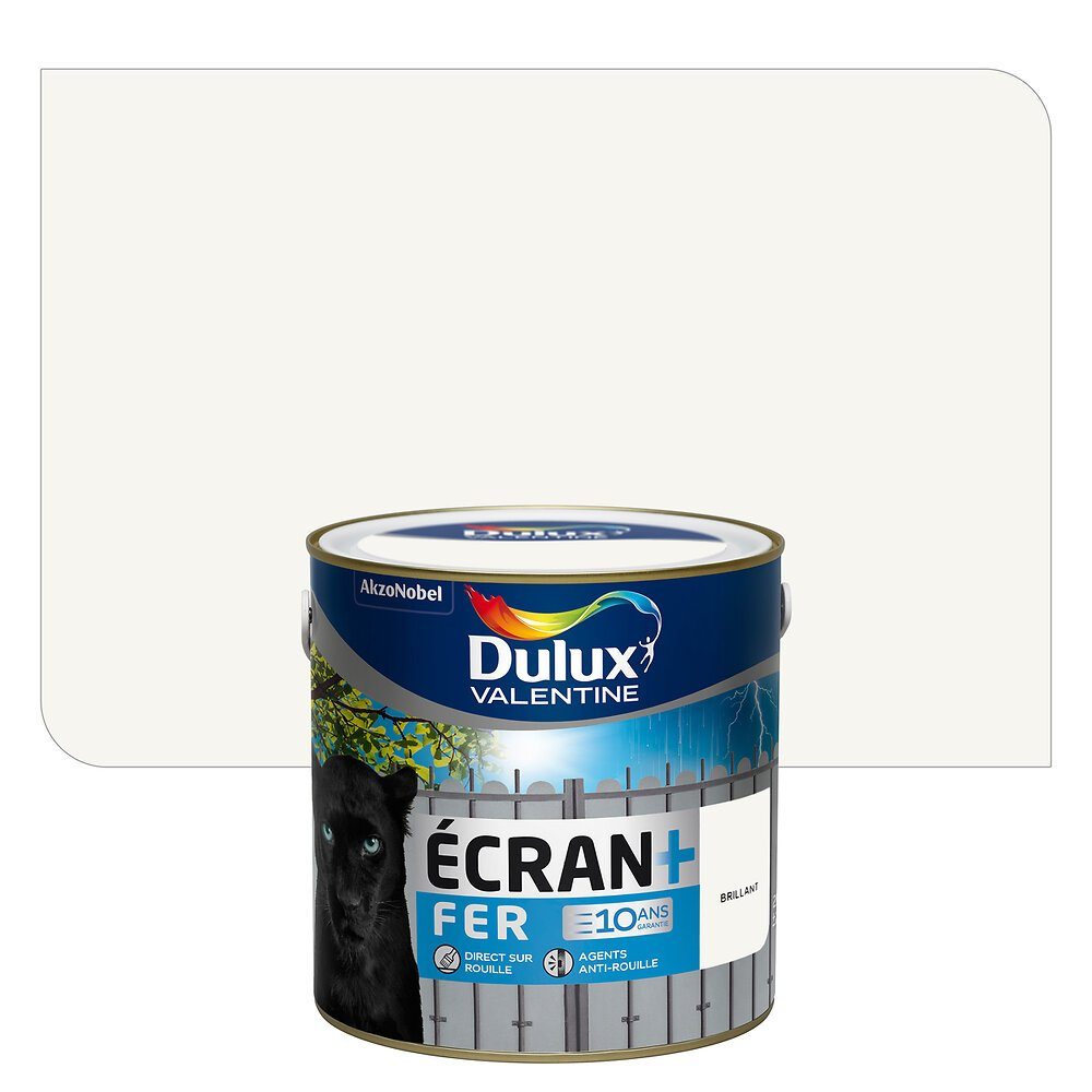 Ecran+ Fer DULUX VALENTINE Base White brillant 2L