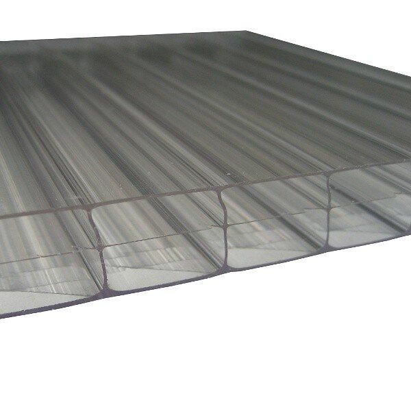 Plaque polypropylène alvéolaire noir 100x50cm 2.5mm