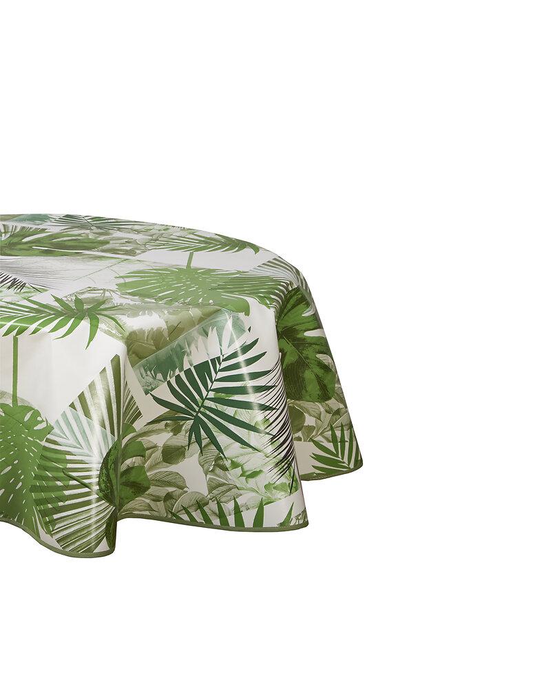 Nappe biais ovale 150x230cm Modèle Banaphy vert