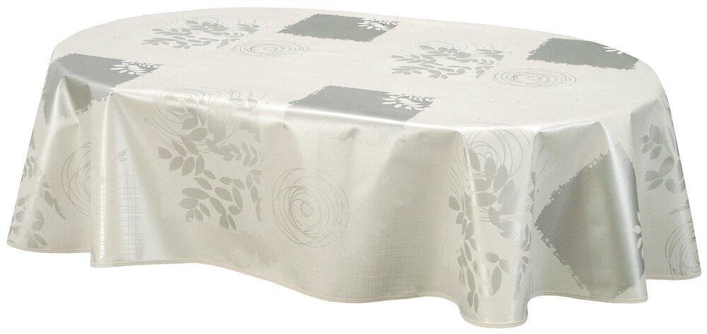 Nappe biais ovale 150x230cm Modèle Véra blanc