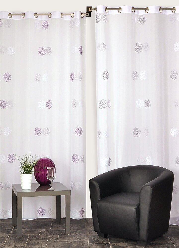 Rideau panneau prêt à poser prune 140x240cm