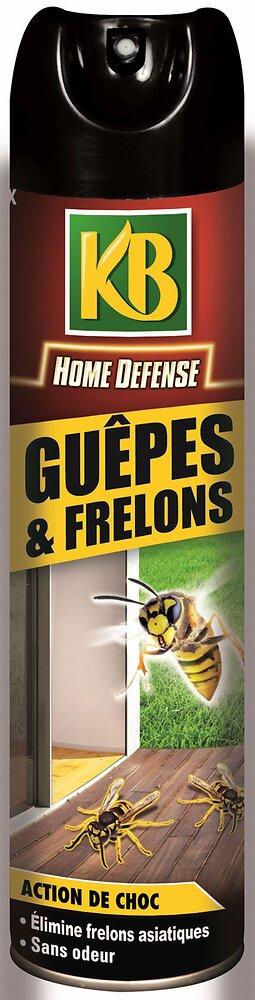Insecticide KB Home defense aérosol guêpes et frelons 400ml