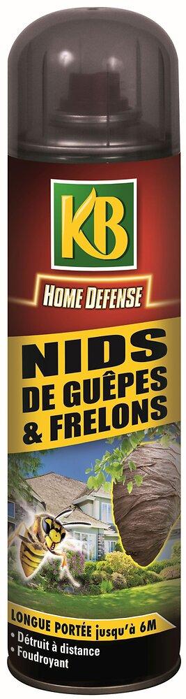 Insecticide KB Home defense aérosol nids de guêpes et frelons 500ml