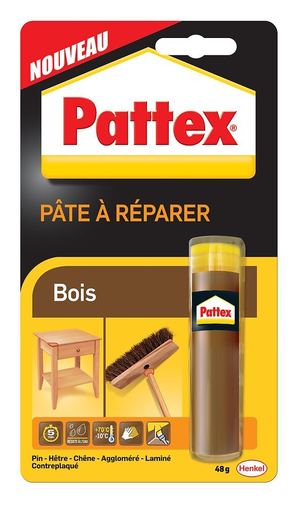 Colle pâte epoxy répar' bois 48gr PATTEX