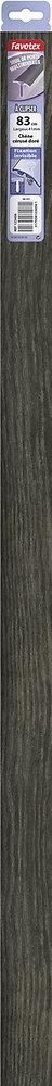 Barre de seuil en aluminium à clipser chêne cerusé