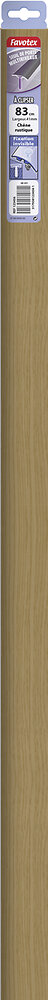 Barre de seuil en aluminium à clipser chêne rustique