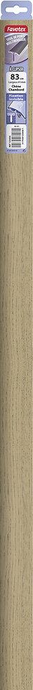 Barre de seuil en aluminium à clipser chêne Chambord