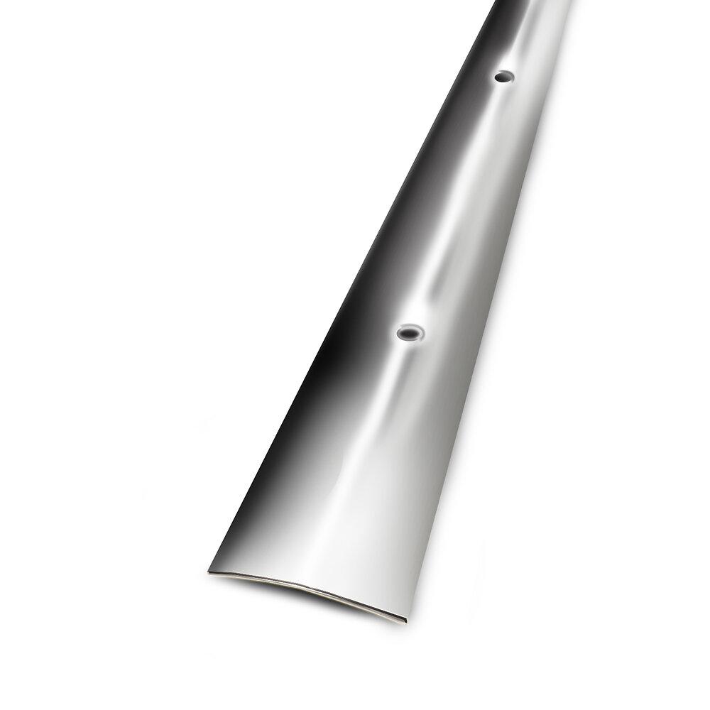 Barre de seuil percée en inox 3x93cm