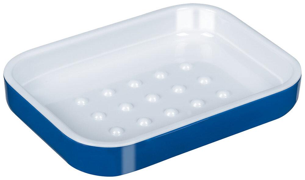 Porte-savon Yin mélamine bleu et blanc