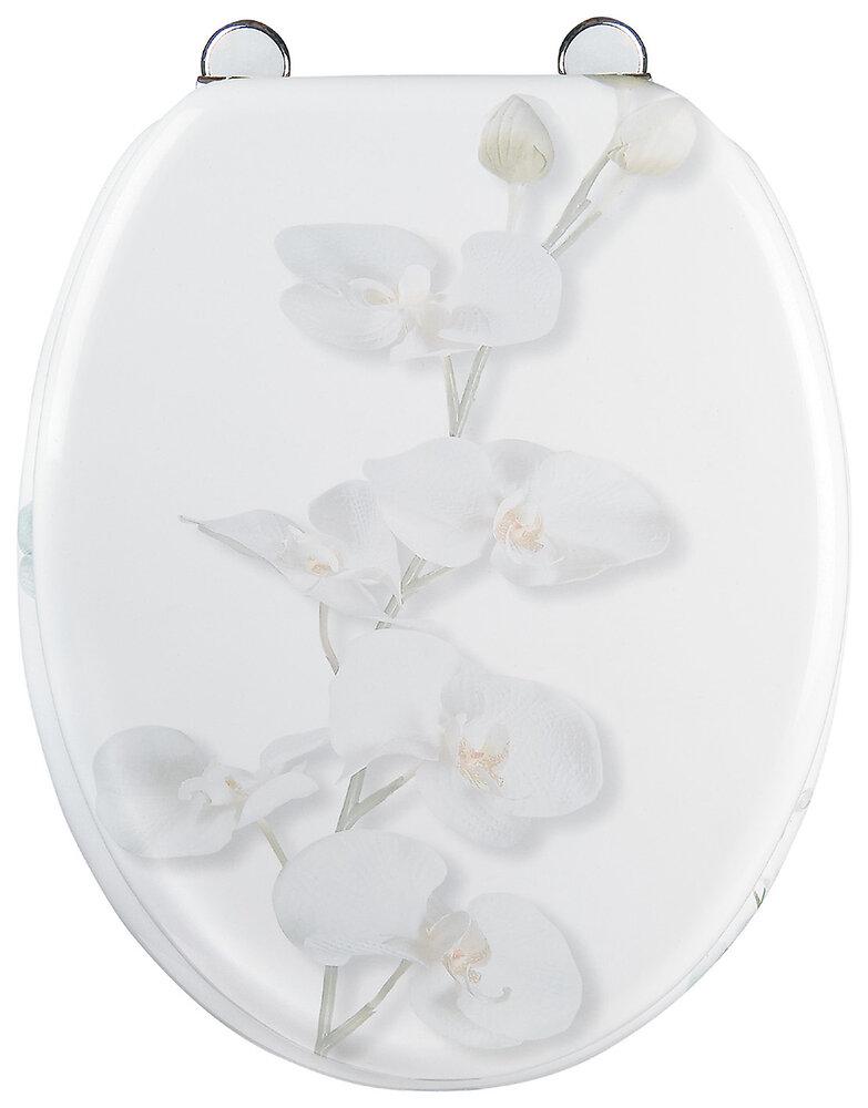 Abattant WC Orchidée MDF blanc