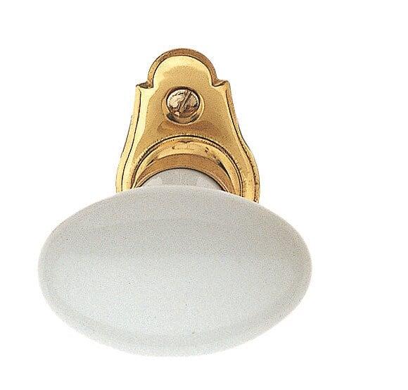Crémone porcelaine platine nickel mat entraxe 43mm