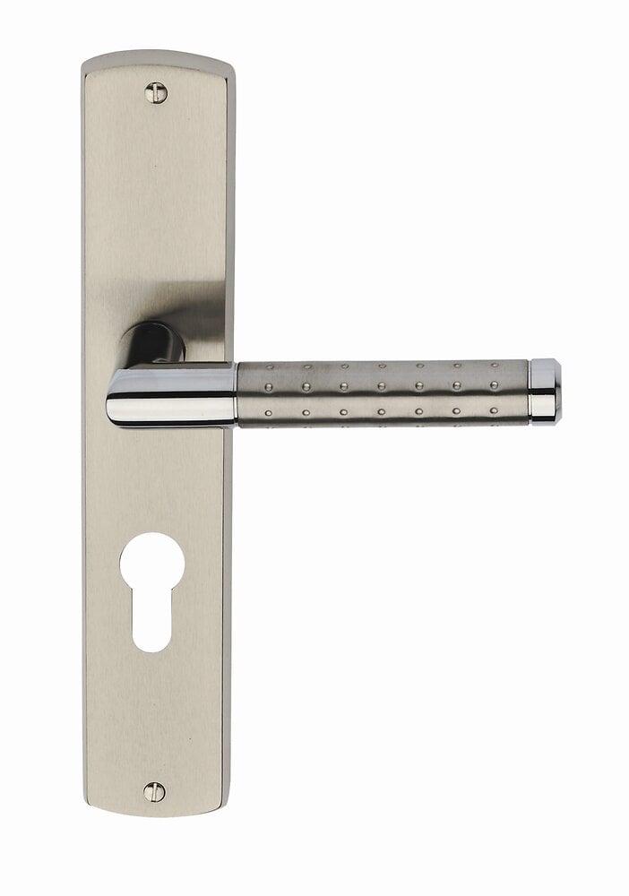 Garniture sur plaque valia laiton nickel mat cylindre entraxe 195mm