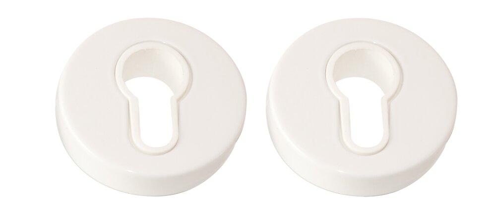 Paire de rosaces D.52 alu blanc cylindre