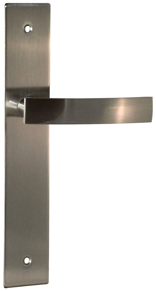 Garniture sur plaque Passy metal nickel mat bec de cane entraxe 195mm