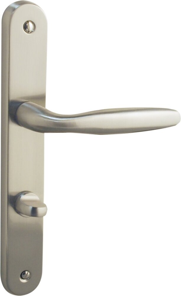 Garniture sur plaque bristol alu nickel mat condamnation entraxe 195mm