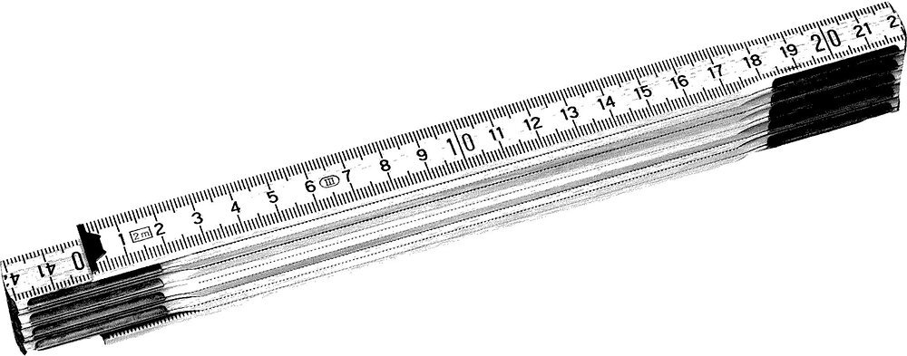 Mesure STANLEY pliante 2m x 15mm bois naturel