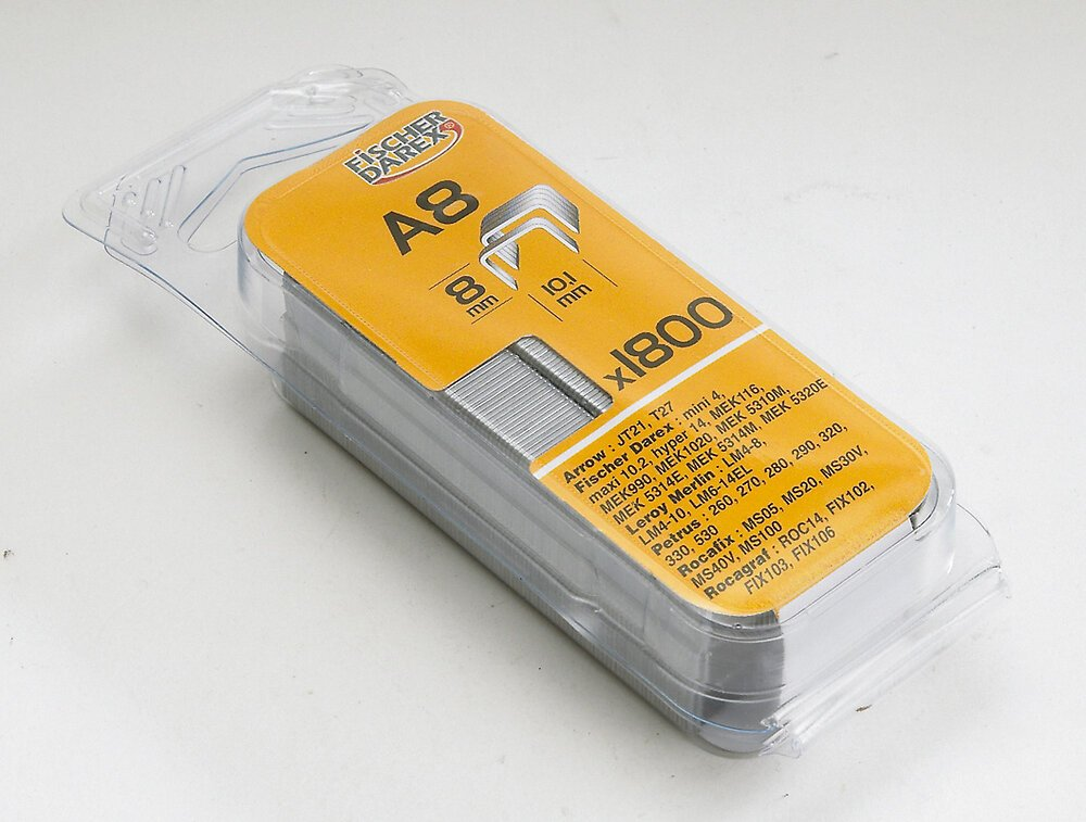 Agrafes type A 10mm inox x1200