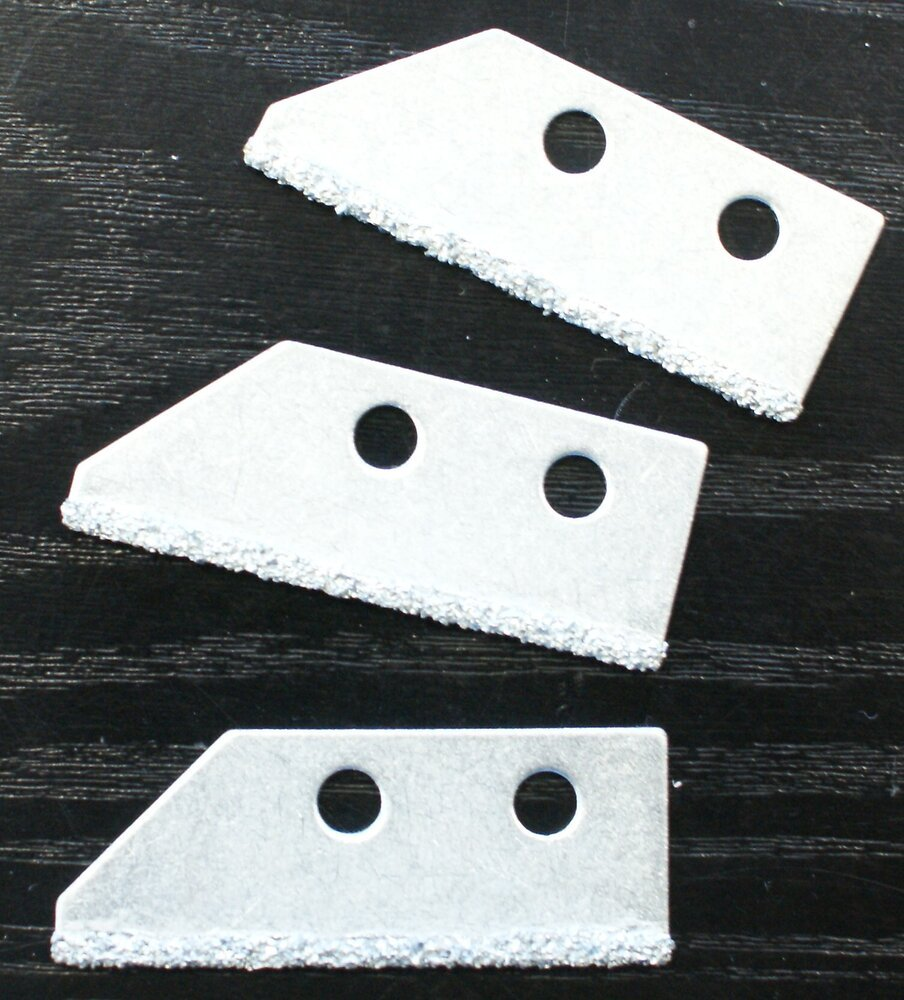 3 lames carbure grattoir à joints