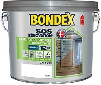 Peinture rénovation volets-bardages Blanc Pot 2.5l