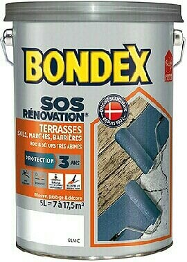 Peinture rénovation terrasses protection Gris Pot 5l