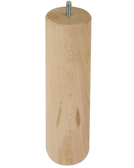 Pied cylindrique diamètre .68 mm hauteur 250 mm en hêtre brut