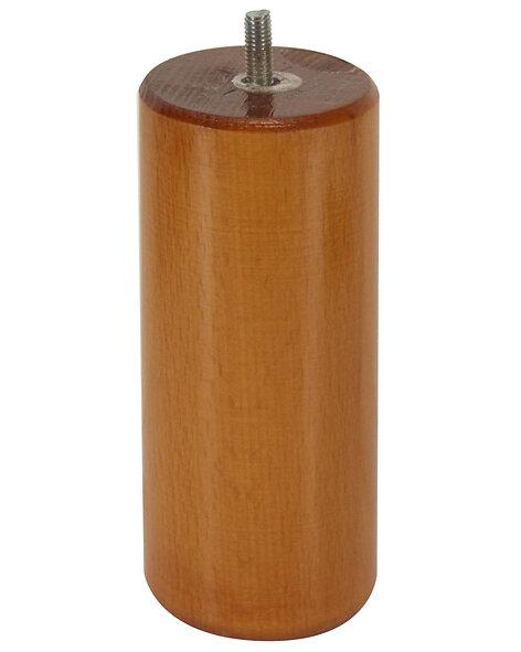 Pied de lit cylindrinque Hêtre teinté merisier