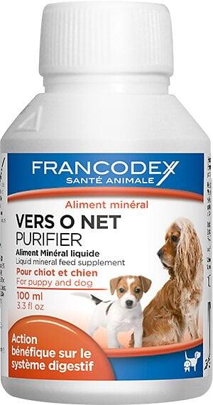 Aliment minéral liquide FRANCODEX chiot / chien Vers O Net 100ml