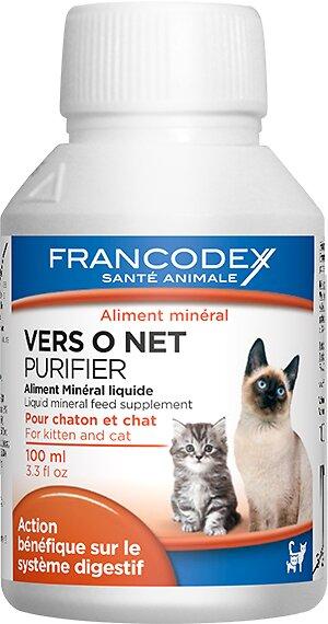 Aliment minéral liquide FRANCODEX chaton / chat Vers O Net 100ml
