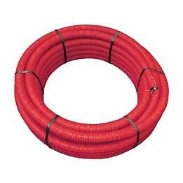 Gaine polyéthylène annelée rouge 25ml diamètre 90mm