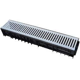 Caniveau pp l.15xh.10cm + grille longueur 100cm a-15 en1433