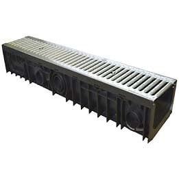 Caniveau pp l.15xh.15cm + grille longueur 100cm a-15 en1433