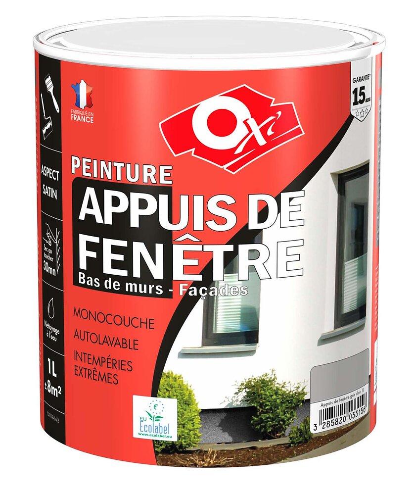 Peinture appuis fenêtre gris clair 1L