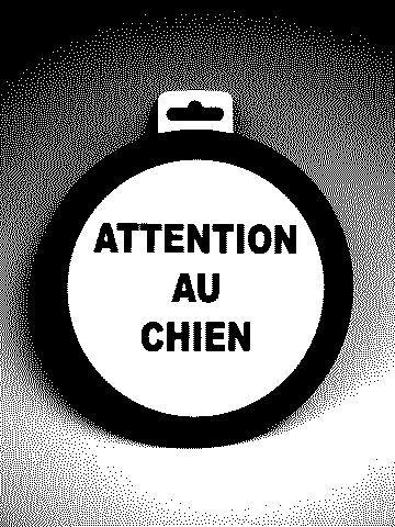 Panneau PVC : ATTENTION AU CHIEN