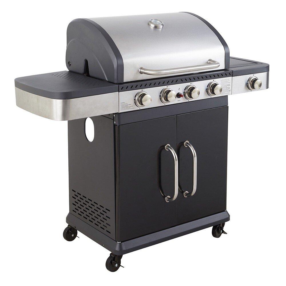 Barbecue américain 4 brûleurs et 1 latéral