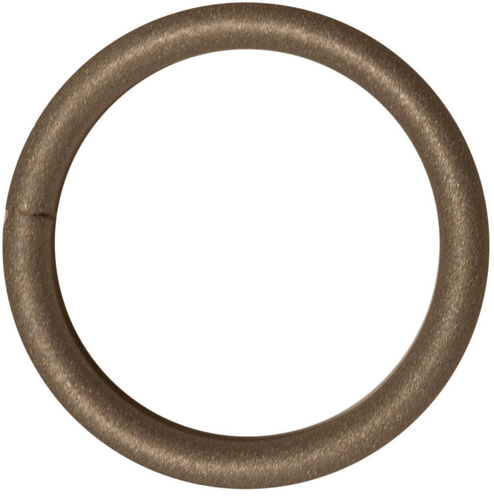 10 anneaux métal MOBOIS Ø42mm brun oxydé