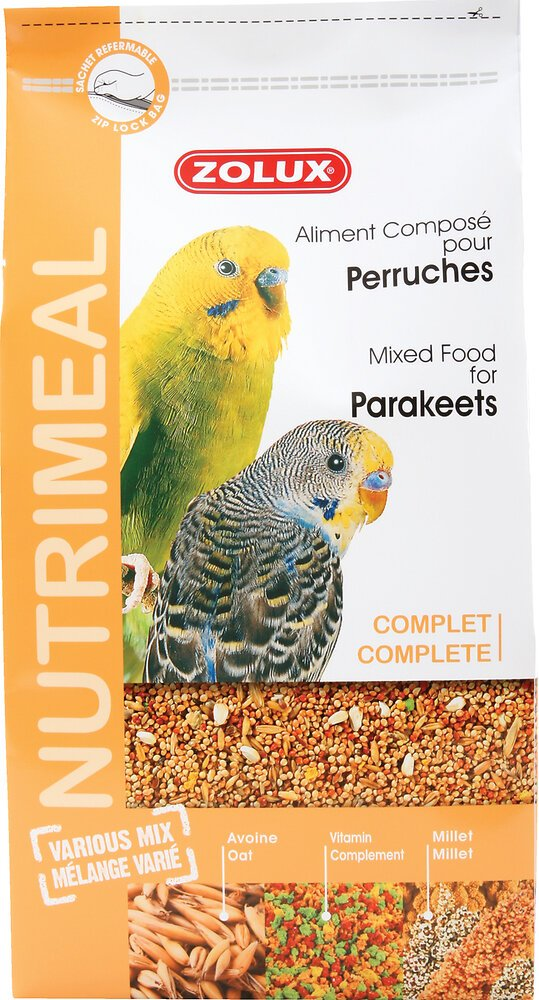 Aliments complets pour perruches ZOLUX Nutrimeal 800 g