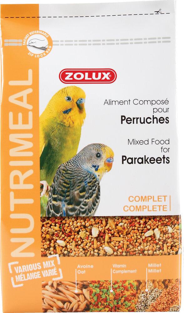 Aliments complets pour perruches ZOLUX Nutrimeal 2,5 kg