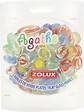 Perles de verre Agathe plates mixtes pour aquarium