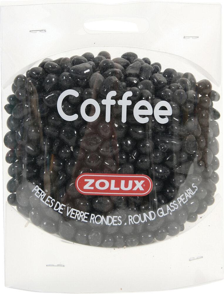 Perles de verre Coffee rondes pour aquarium