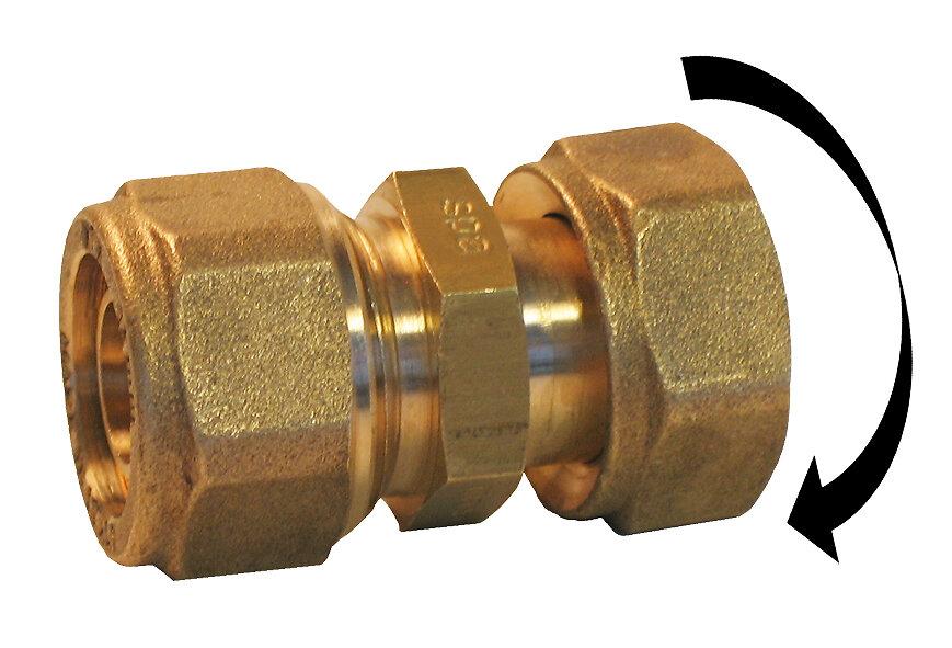 Raccord pour tube PER à compression D.12mm F. 1/2
