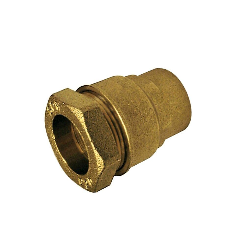 Raccord laiton droit polyéthylène F. 20x27mm D.25mm