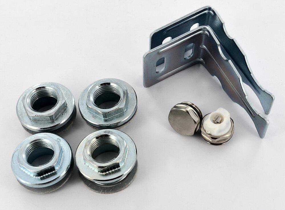 Kit de fixation pour radiateur aluminium