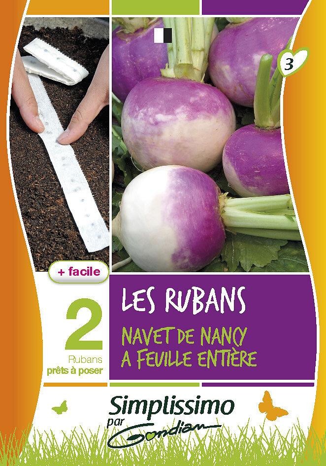 Navet de Nancy à feuille entière 'pour ruban'