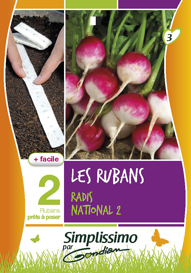 Radis national 2 'sur ruban'
