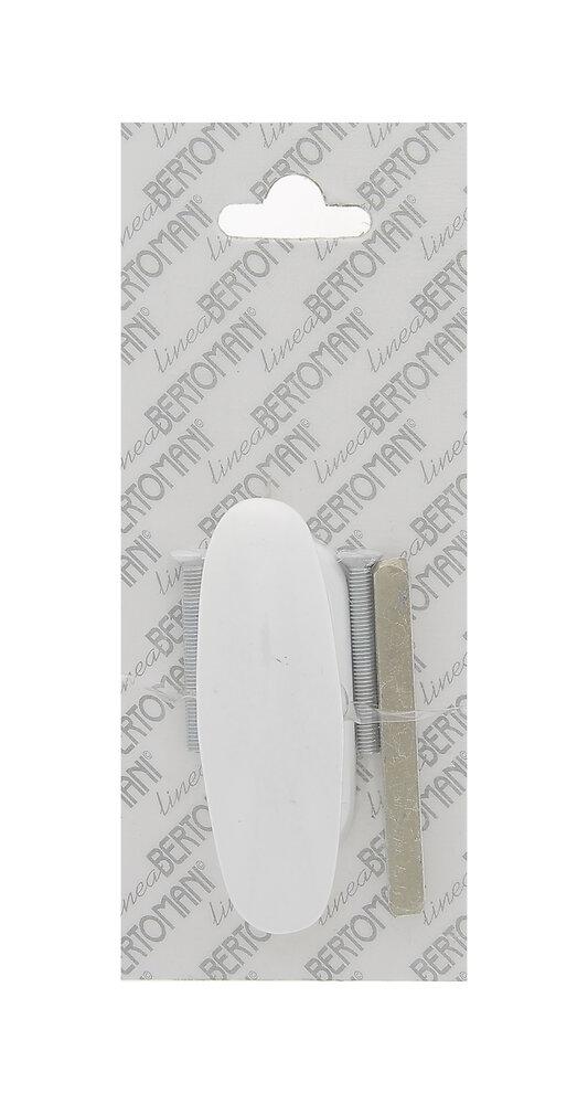 Crémone azur aluminium laqué blanc