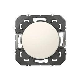 Poussoir simple dooxie 6A 250V finition blanc - sachet