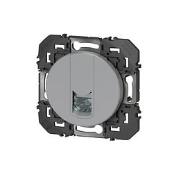 Prise blindée RJ45 cat6 STP dooxie finition alu - sachet