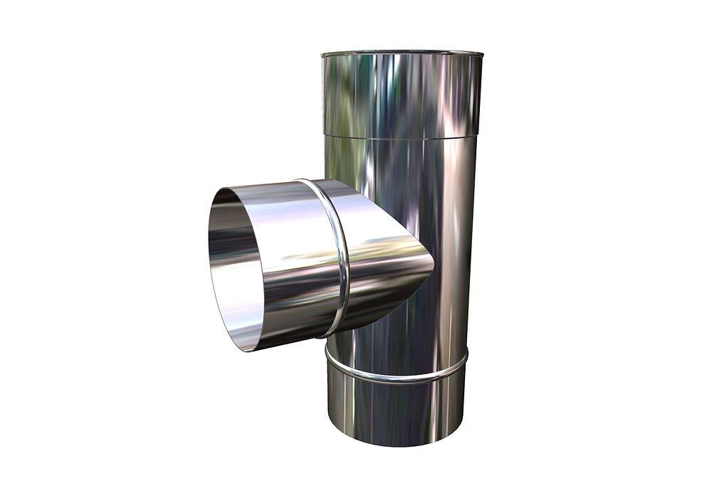 Té avecTampon INOX SOUDE D 125 TSP
