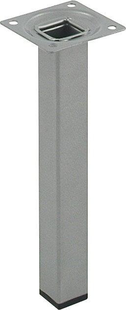 Pied de meuble carré acier gris 2.5x2.5cm hauteur 20cm