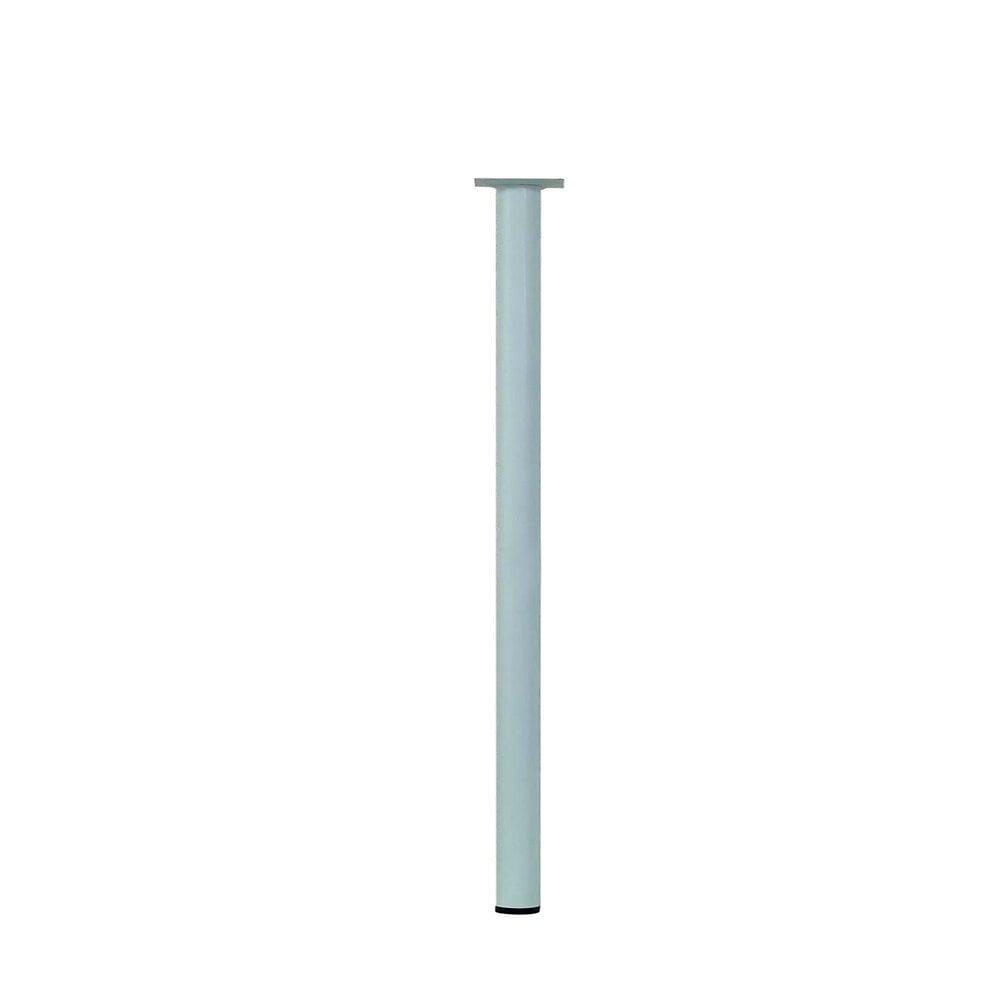 Pied de table cylindre acier blanc D.3cm hauteur 70cm